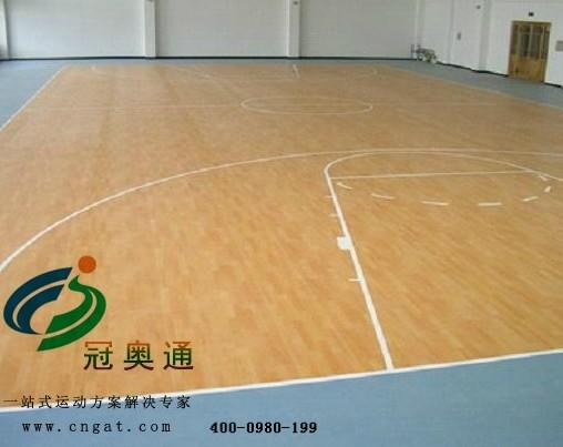 运动木地板冠奥通木地板种类枫木地板国际标准运动商