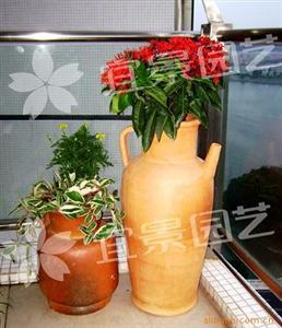 园林花盆 陶烧敞口水壶 园林陶瓷花罐 装饰陶罐 陶罐工艺品