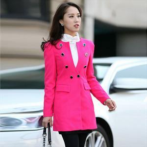 2012秋冬新款外套 女韩版 修身显瘦 中长款 女款长袖开衫B1202X