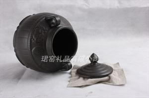【火热畅销】供应茶叶罐 精品高档茶叶罐 黑色椭圆茶叶罐