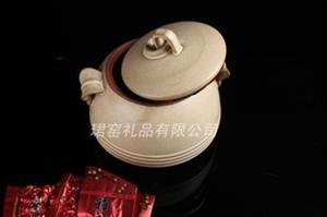 【火热畅销】供应茶叶罐 高品质茶叶罐 浅棕色双耳茶叶罐