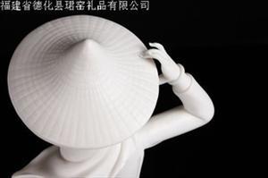 【福建商家】供应艺术瓷雕 优质工艺品 精致大方艺术瓷雕惠安女