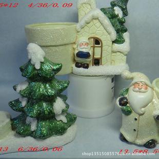 圣诞节陶瓷花盆 红土花盆 圣诞雪人花盆 物美价廉花盆