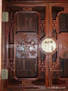 红酸枝书柜三件套、红酸枝博古架、红木家具、古典家具