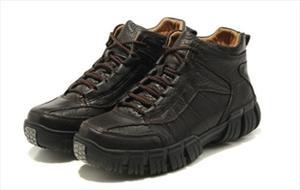 供应 骆驼男鞋绒毛男士皮棉鞋休闲户外棉皮鞋冬季保暖真皮雪地靴