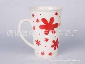 供应批发现代异形陶瓷杯 生产现货杯 广告礼品杯 早餐杯