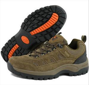 骆驼男鞋1575 情侣款2375 透气户外登山鞋徒步鞋卡其色