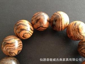 厂家直销虎皮檀手串1.5/1.8/2.0厘米