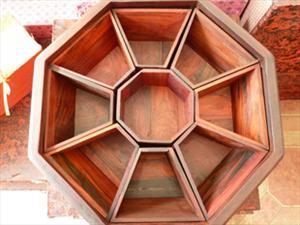 老挝大红酸枝果盘、可移动果盘、红木果盘、红木古典家具