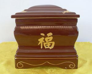批发骨灰盒 殡葬用品 棕色 陶瓷 金龙 先人身后的另一个家