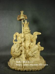 密宗黄财神佛像 樟木黄财神 完整大料雕刻 做工细腻到位 神韵凸显
