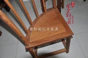 红木圆形餐桌实木古典家具鸡翅木扇圆形饭桌红木圆餐桌