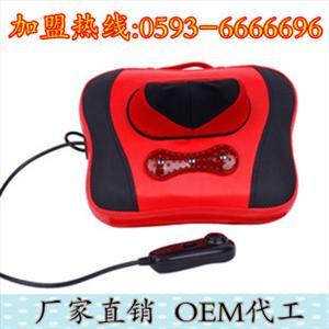 厂家直销批发多功能小型按摩枕家用颈部背部按摩器OEM代工