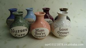 陶瓷小花瓶 欧式英文字母瓶 小花瓶批发 创意靠墙瓶 1812