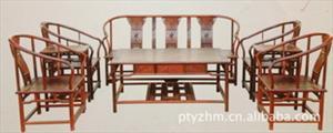 热销 红酸枝木圈椅八件套 红木家具 古典家具 中式家具