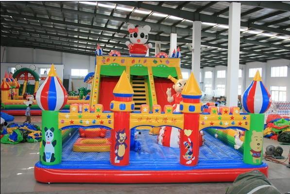 充气蹦蹦床/儿童充气城堡/大型电动充气玩具供应商