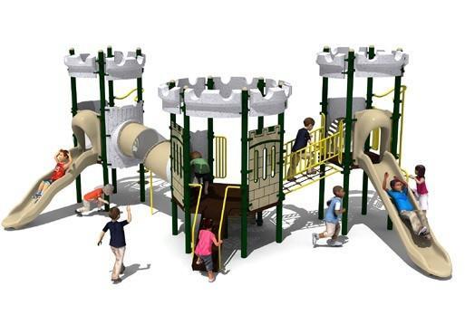 韩国进口儿童游乐设施组合滑梯玻璃城堡-专