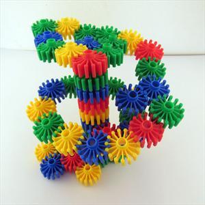 雪花片齿轮编织积木儿童益智拼插拼图