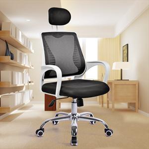 美连丰电脑椅家用办公椅批发人体工学升降转椅弓形网布职员椅子
