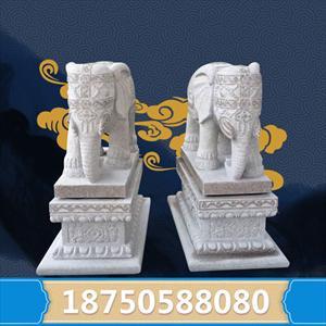 2米高招财大象石雕门墩 规格齐全 厂家现货 可定制