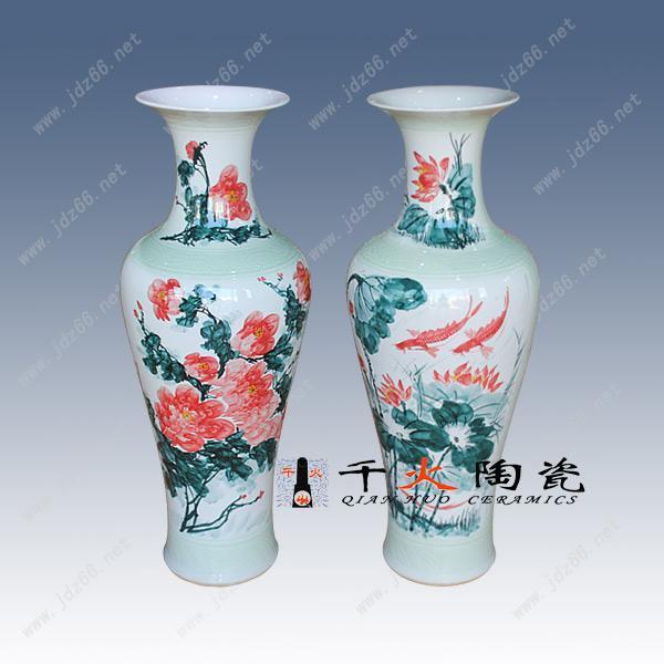 手绘青花瓷器大花瓶 景德镇仿古瓷器花瓶客厅家居摆件