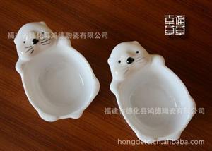 可爱小熊 酱醋碟 调味碟 料理碟 芥末碟子 日本原单 工厂现货直销