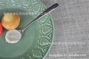 出口日本陶瓷圆盘  菜盘 牛扒盘 糕点盘 原单厂家直销