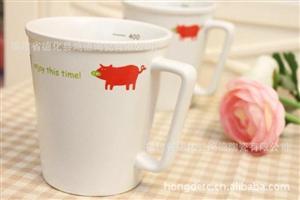 【刻度杯】zakka 陶瓷马克杯 卡通动物杯 陶瓷杯 牛奶杯