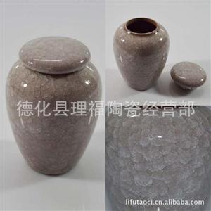 茶叶包装首选 紫砂冰裂陶瓷茶叶罐 陶瓷密封罐效果好 高档包装