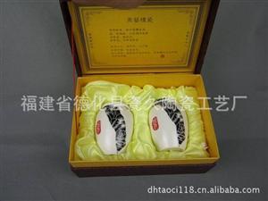 德化厂家低价批发子陶瓷 黑牡丹瓶形茶叶罐套装