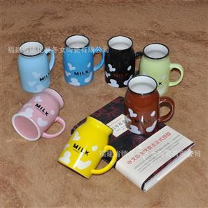 大号混装 zakka陶瓷牛奶杯批发 早餐杯 仿古陶瓷咖啡杯  日系陶瓷