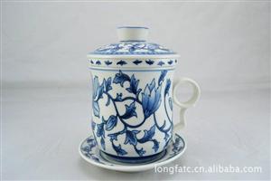 供应四件套杯 个人杯 陶瓷杯子 会议杯 个人茶杯 可加印LOGO