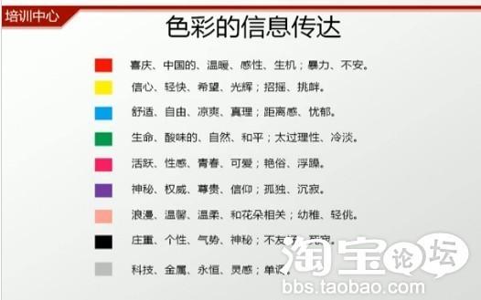淘宝装修颜色搭配如何搭配分析