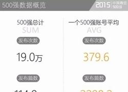 2015年度中国微信500强报告