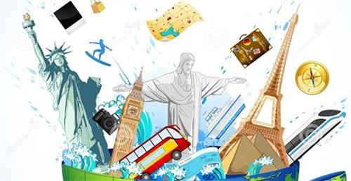 全球旅游简笔画