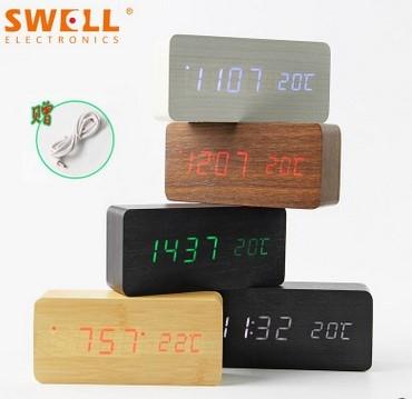 LED木头钟