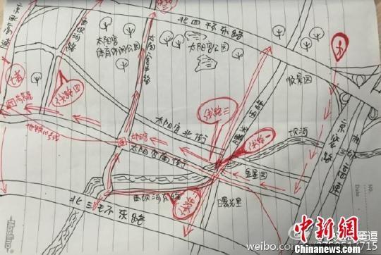 手绘北京避堵地图