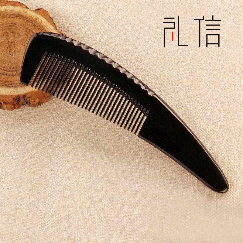 礼信牛角梳子 多功能按摩美发头梳家用礼品定制厂家直销