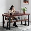现代简约实木书桌