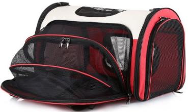 宠物包外出便携透明猫狗背包可折叠四面透气斜挎手提猫包厂家直销