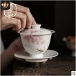 日式三才�w碗茶暗月狂歌杯