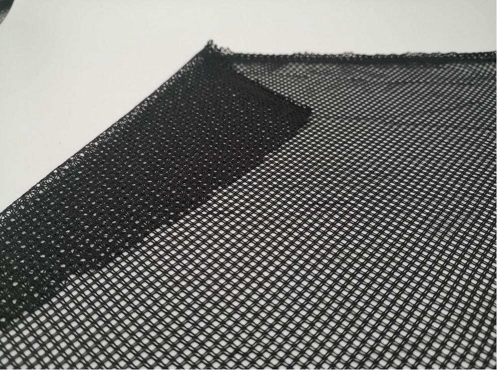 航利達 錦氨彈力提花菱形格子網 薄款超柔彈尼龍網面料