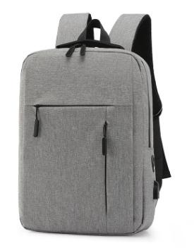 跨境貨源可定制LOGO USB背包休閑商務男包筆記本雙肩包