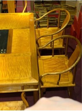 金絲楠木茶桌套裝 拐手椅 中式古典茶桌 實木桌椅 茶道