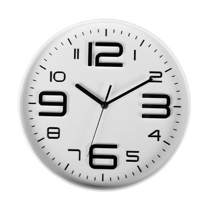 10寸熱銷亞馬遜eBay3D數字時鐘簡約時尚石英鐘表創意掛鐘鐘表塑料