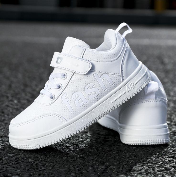 2020新款 童鞋兒童經典小白鞋網面&皮面 一件代發