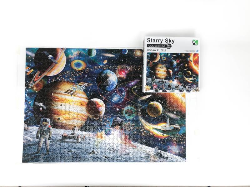 成人拼图1000片现货批发 跨境爆款太空旅客纸质1000片拼图拼图
