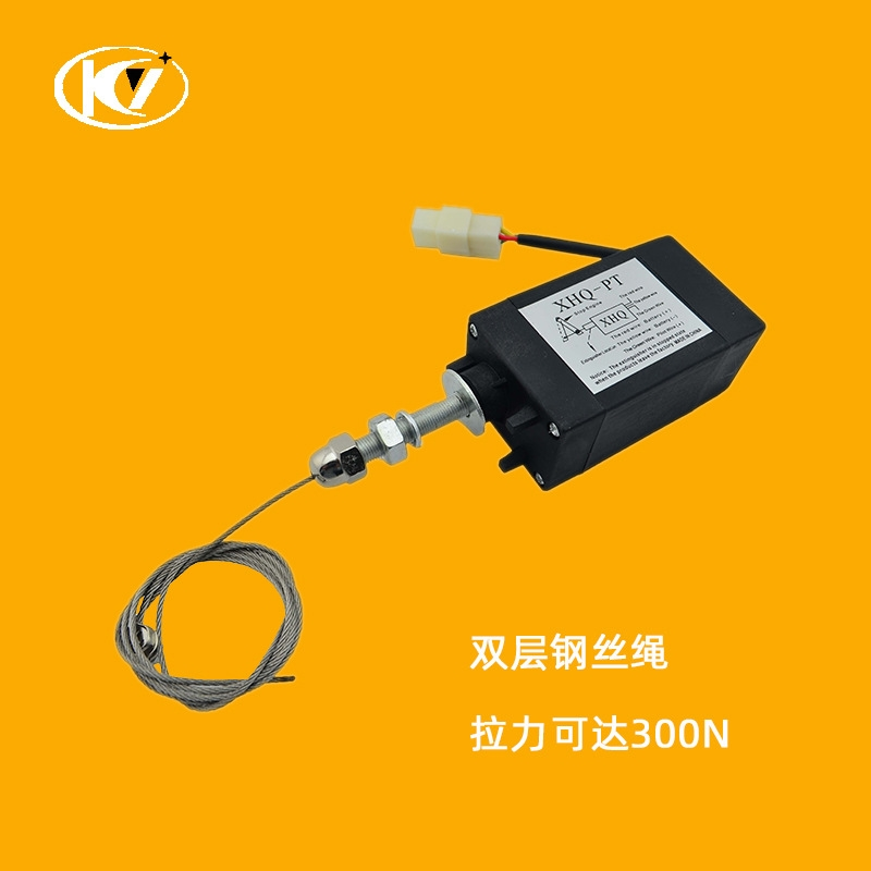柴油发电机电子熄火器XHQ-PT自动熄火拉环停机停车电磁阀铁12V24V