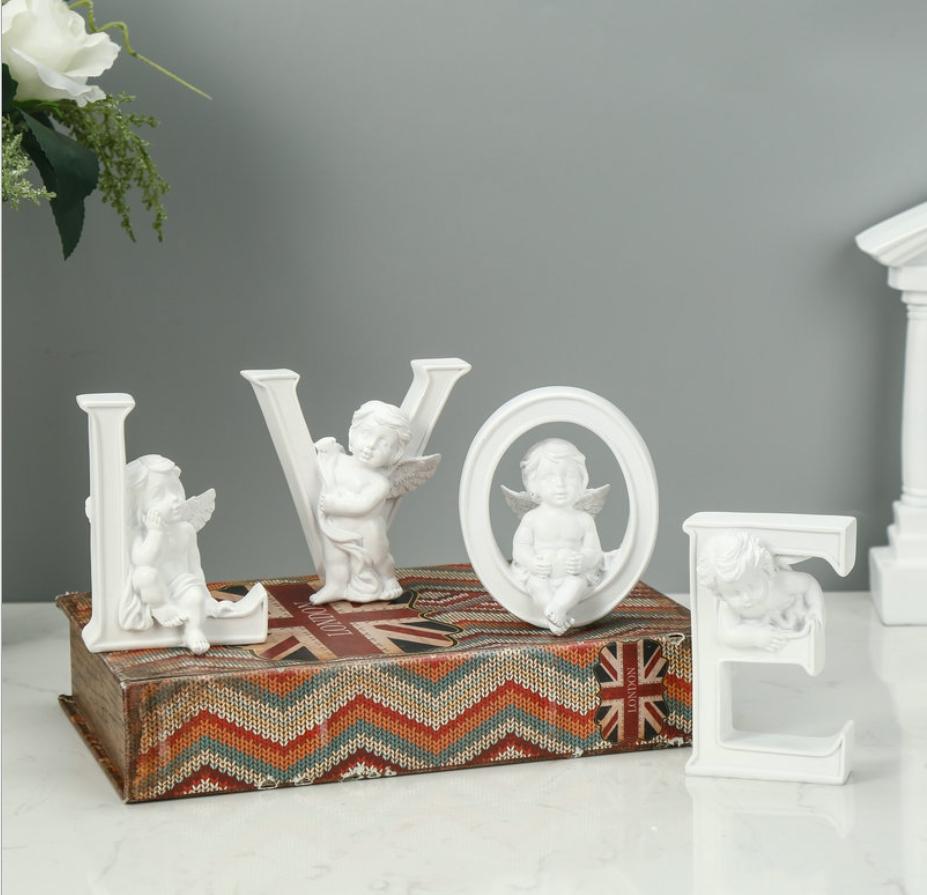 现货供应创意LOVE结婚礼物情侣 HOME工艺品树脂摆件摆台装饰品