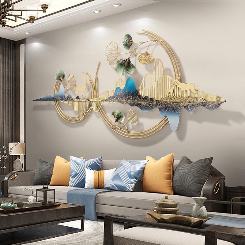 轻奢墙面装饰挂件客厅卧室沙发背景墙上现代创意大气铁艺金属壁饰